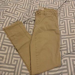 2/$15 Aeropostale Skinny Twill Pant Size 00 Reg